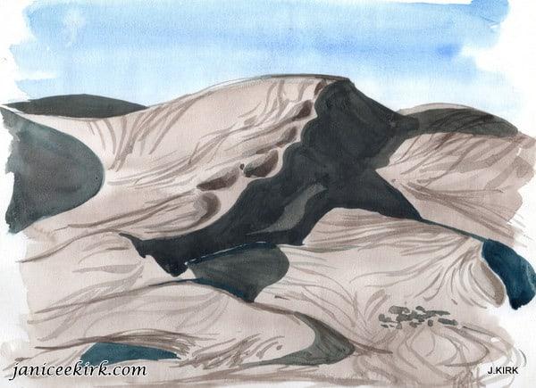 Rocky Mountains. Sand Dune Shadows