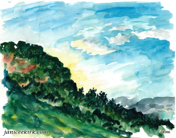 Mesa Verde Hill near camp, Colorado