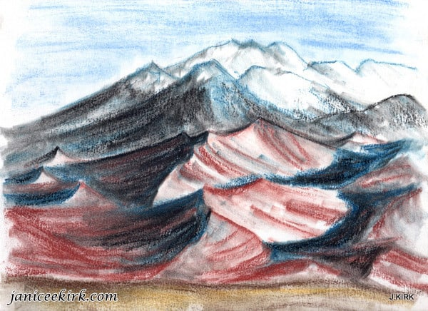 Pastel: Great Sand Dunes National Park, CO